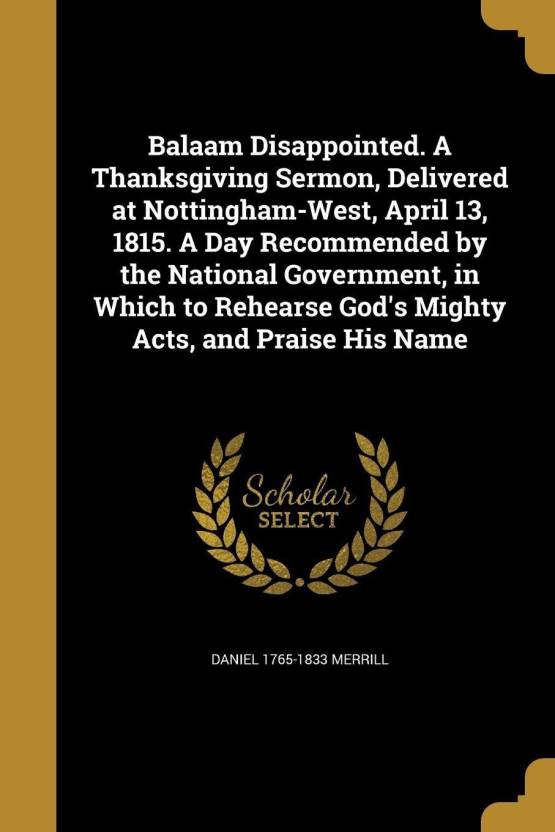 Balaam Disappointed  a Thanksgiving Sermon, Delivered at