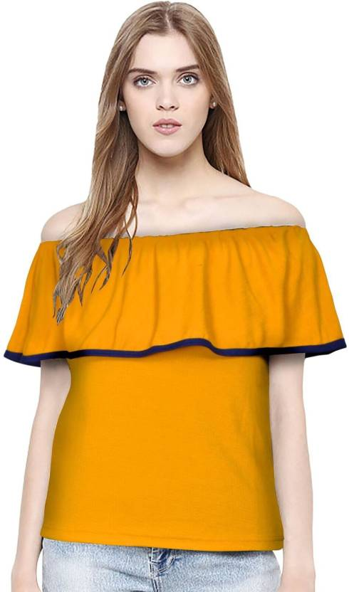 f9c50d7bf1 Feldspar Casual Short Sleeve Color Blocked Women Yellow Top. ADD TO CART.  BUY NOW. Home · Clothing · Women's Clothing · Western Wear