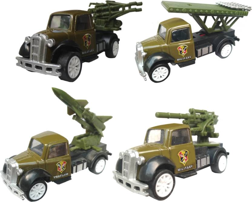 HALO NATION 4 in 1 Army Vehicle Set - Military styling 1:87