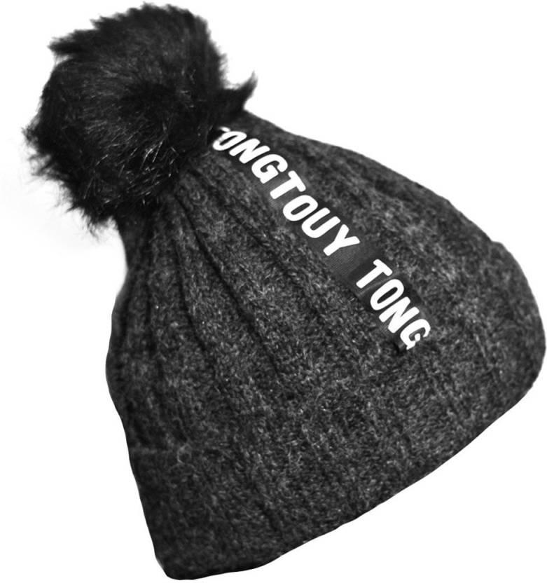 df1149251a1 Radhe Woolen Cap- Winter Wear- New Design- Unisex Beanie- Black Color Cap -  Buy Radhe Woolen Cap- Winter Wear- New Design- Unisex Beanie- Black Color  Cap ...