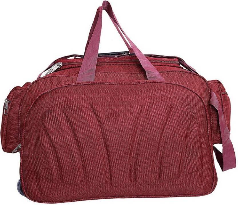 Inte Enterprises (Expandable) red Travel Duffel Bag red - Price in ... 54ed32fa4fa59