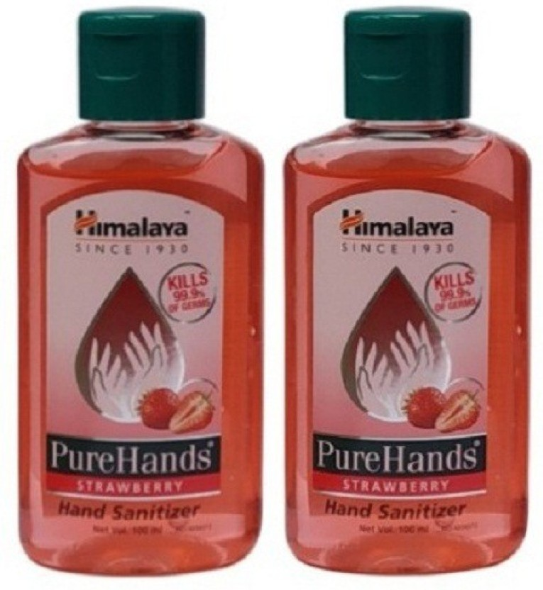 Himalaya Pure Hand Sanitizer Set Of 2 Packs 100 Ml Each Strawberry