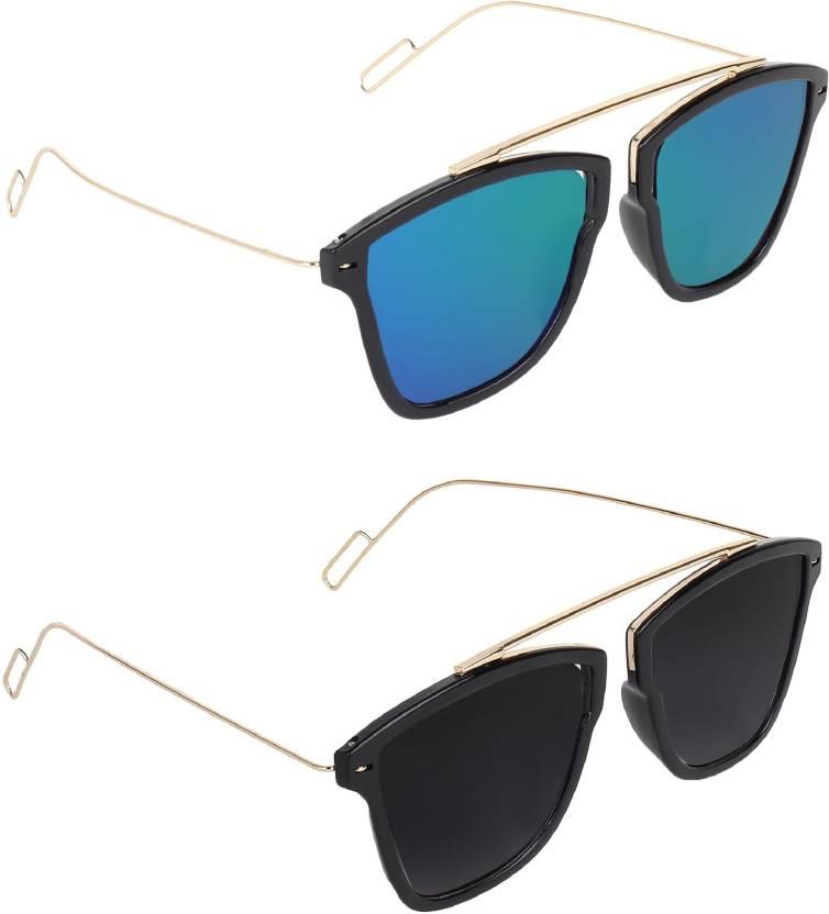 e95e309481 Buy Pogo Fashion Club Retro Square Sunglasses Black