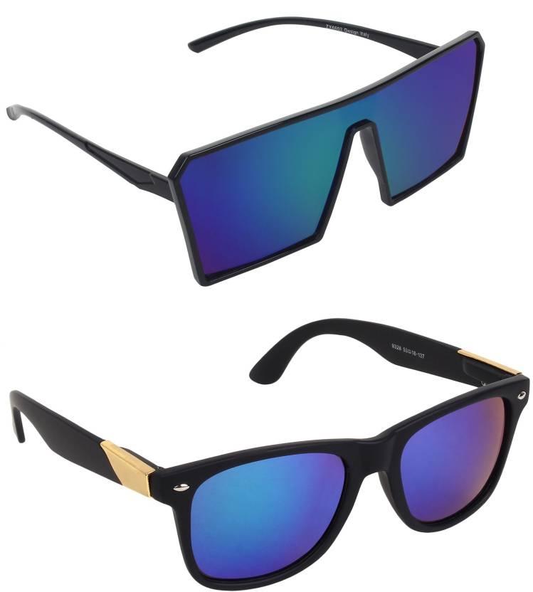 0f388a6def Buy Pogo Fashion Club Wayfarer Sunglasses Blue For Men   Women ...