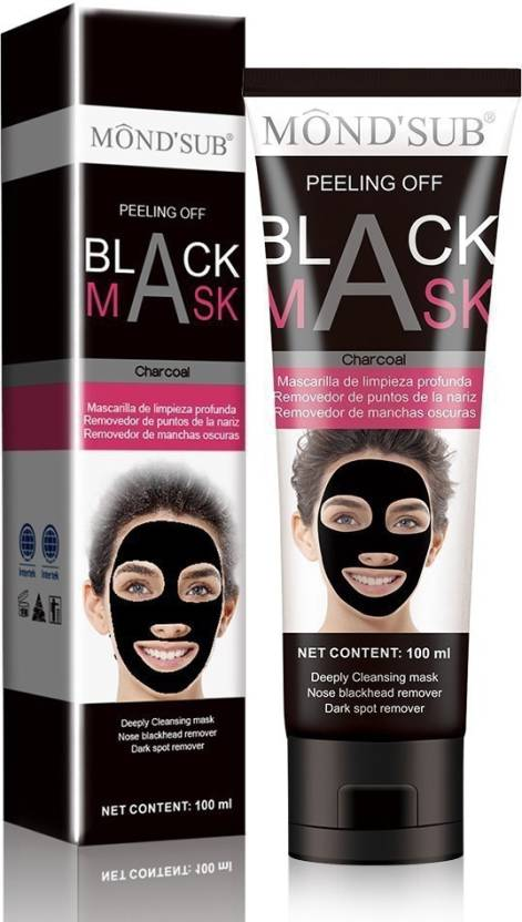 Mondsub CHARCOAL BLACK PEEL OFF MASK FOR BLACKHEAD REMOVAL FROM NOSE & ACNE  TREATMENT(PACK OF 1)