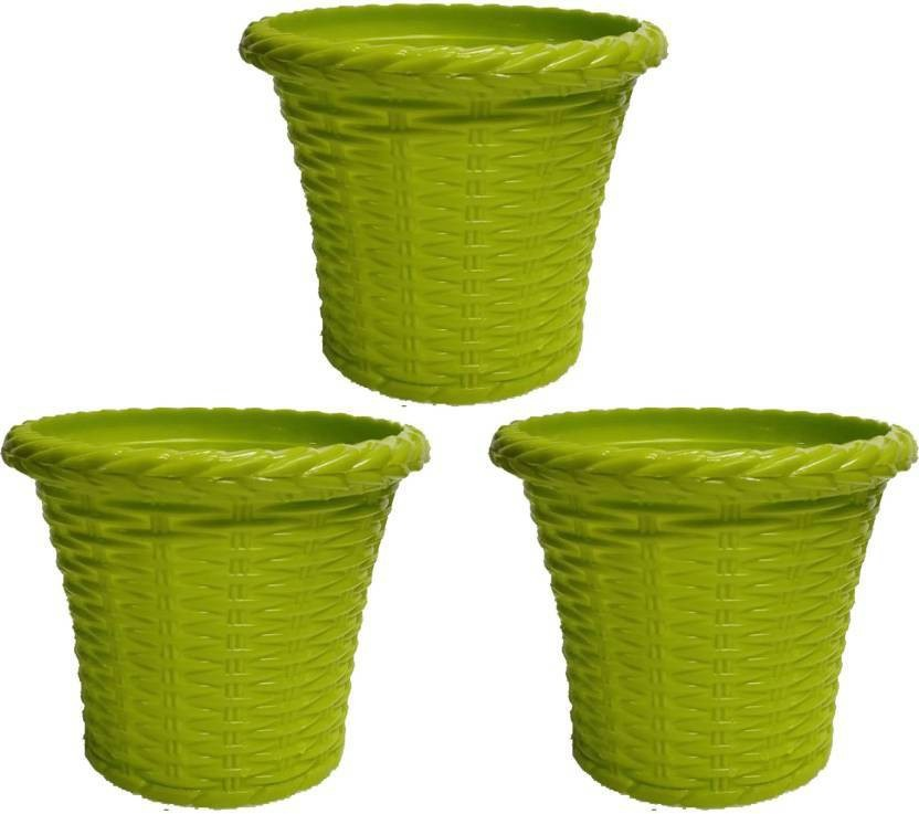 Antier 8 Inch Juhi plastic-flower-pots-planter/ Pack Of 3 In Multicolor Plant Container Set (Pack of 3 Plastic)  sc 1 st  Flipkart & Antier 8 Inch Juhi plastic-flower-pots-planter/ Pack Of 3 In ...