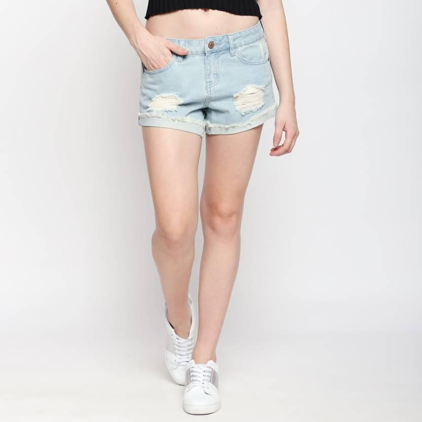 1db52cb086 Vero Moda Solid Women Light Blue Denim Shorts - Buy Blue Vero Moda Solid  Women Light Blue Denim Shorts Online at Best Prices in India | Flipkart.com