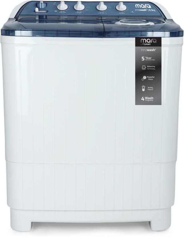 cee9c06eee8 MarQ by Flipkart 8.5 kg Semi Automatic Top Load Washing Machine Blue ...