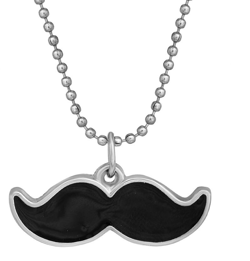 15 I Love Mustaches Flat Bottle Cap Necklaces Set 1
