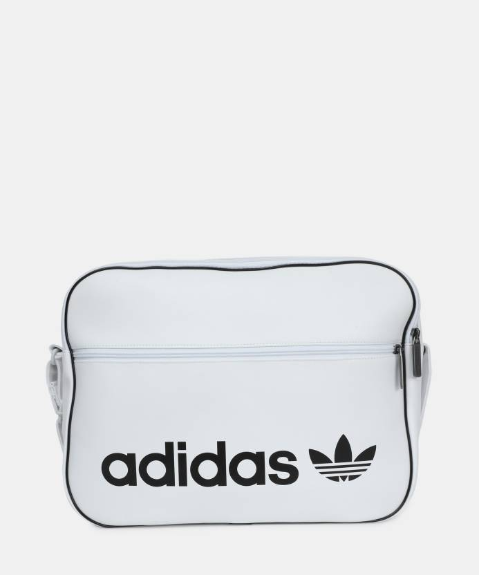 bc1efcd3da261 ADIDAS Men Casual White PU Sling Bag WHITE - Price in India ...