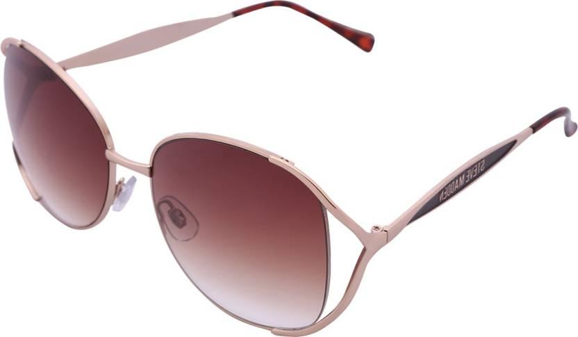 66bde0e83f Buy Steve Madden Aviator Sunglasses Brown For Men Online   Best ...