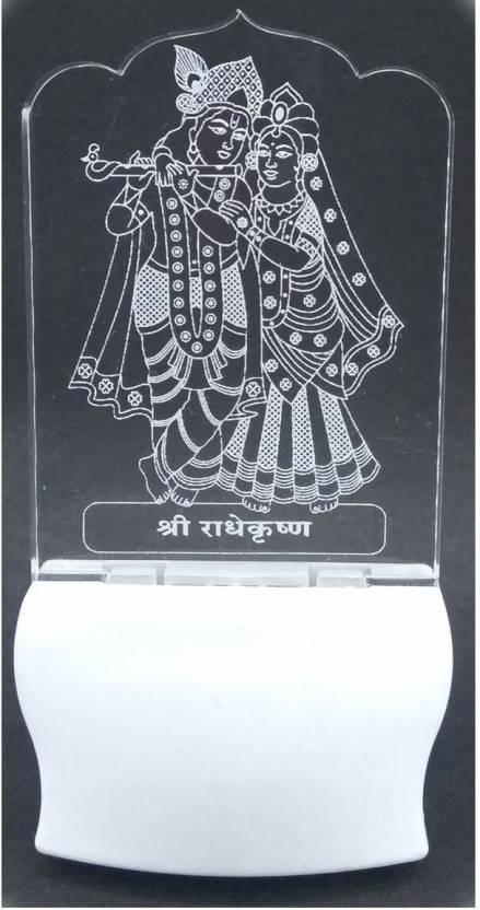 Gkart Shree Radhe Krishna 3D Illution LED Night Lamp Price
