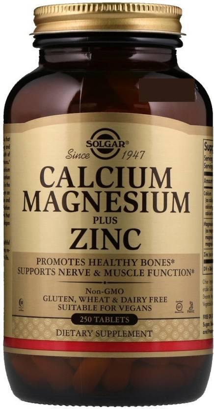 Solgar Solgar Calcium Magnesium Plus Zinc 250 Tablets Price In