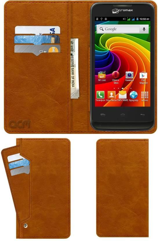 ACM Wallet Case Cover for Micromax Bolt A36 - ACM : Flipkart com