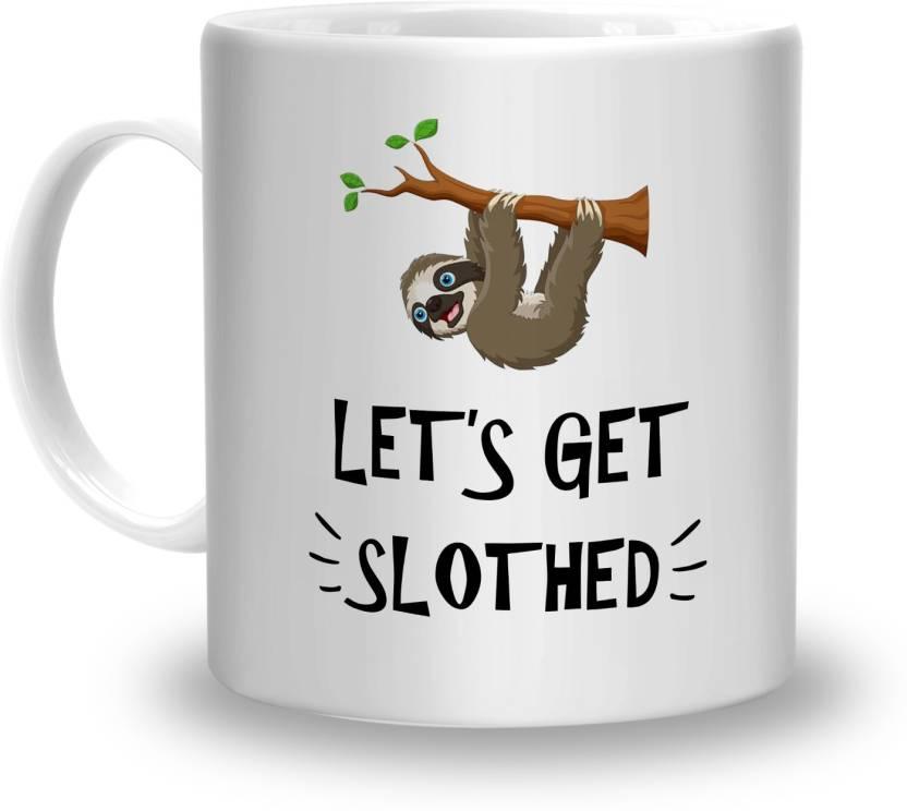 Sphero lets Get Slotted Printed For Friend,Brother,.Boyfriend,Girlfriend On  Greetings,Friendshipday,Birthday Ceramic Mug (300 ml)