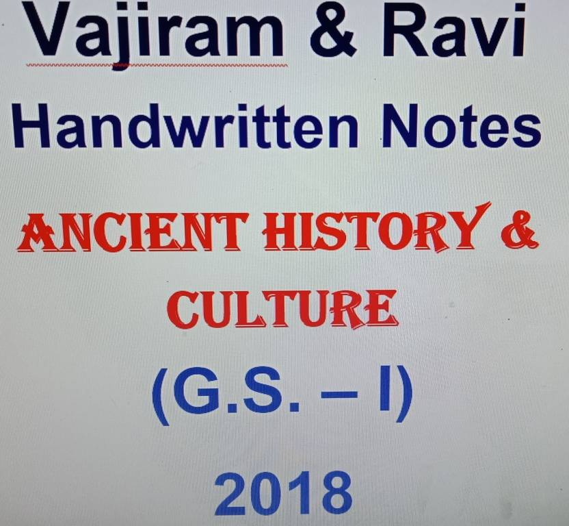 Vajiram & Ravi Handwritten Notes - Ancient History & Culture