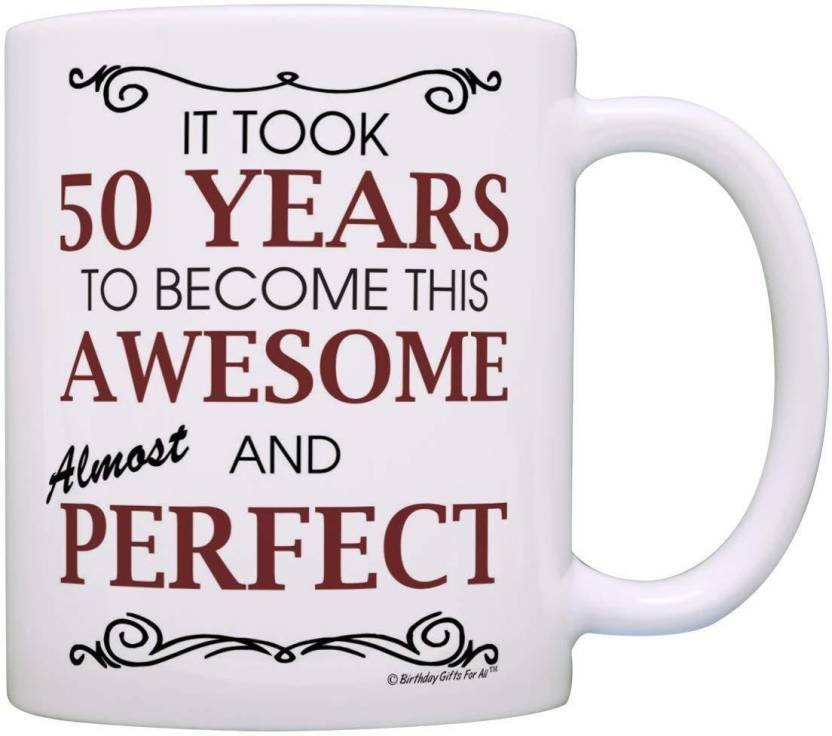 Pepronica 50th Birthday Gifts For All Took 50 Years Awesome Funny Party Gift Ceramic Mug 350 Ml