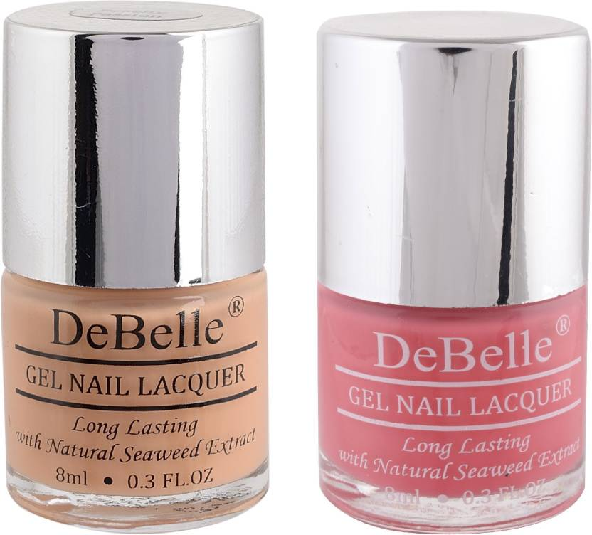 Debelle Gel Nail Polish Combo Of 2 Peach Baby Pink Peachy Passion