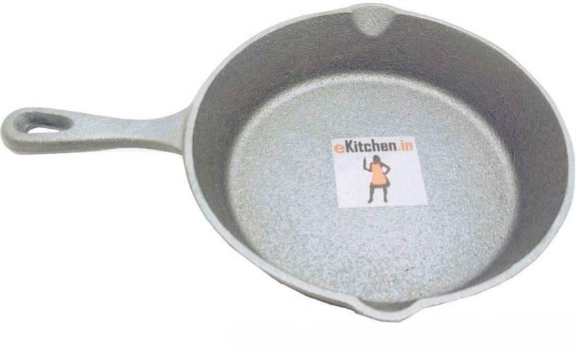 Ekitchen Fully Seasoned Cast Iron Skillet Omlet Pan Diameter Mm Fry Pan 16 Cm Diameter Cast Iron