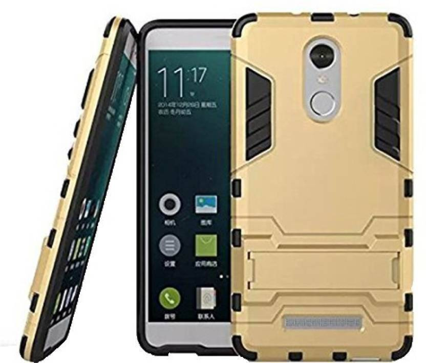 Loopee Back Cover for Mi Redmi Note 3 Gold, Dual Protection