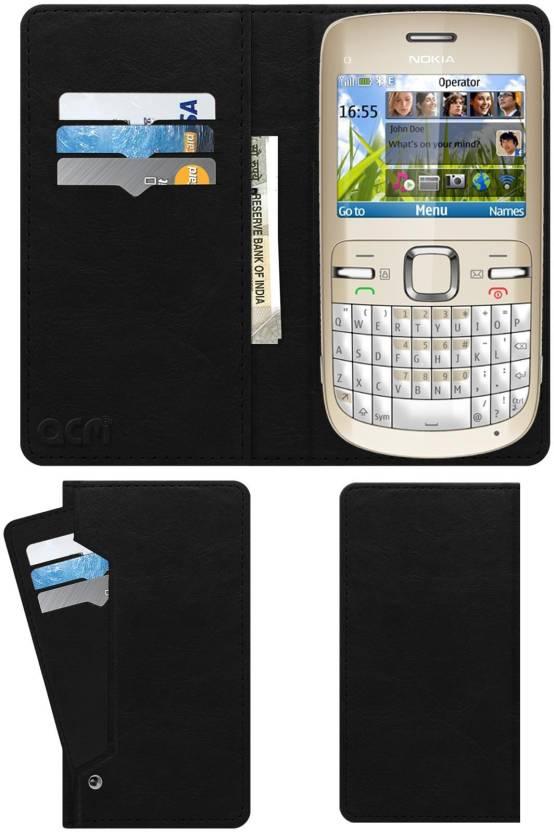 new product 58519 5bfd0 ACM Flip Cover for Nokia C3 - ACM : Flipkart.com
