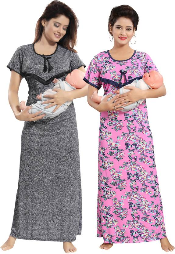 d490fa9cdd Rangmor Women Maternity Nursing Nighty - Buy Rangmor Women Maternity ...