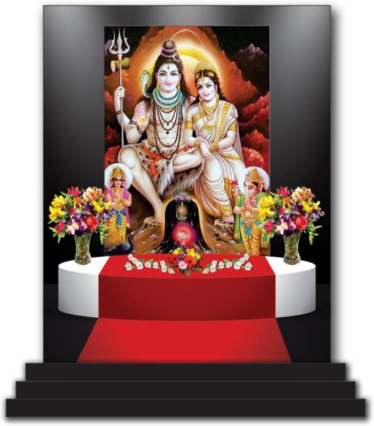 Vprint Shiv Parivar Car Dashboard Idols Figurine Showpiece