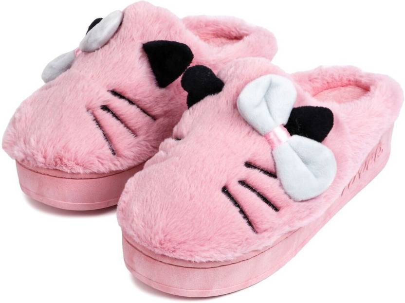 6a52f8a344a2b Brauch Pink Bow And Kitty Winter Slippers - Buy Brauch Pink Bow And Kitty  Winter Slippers Online at Best Price - Shop Online for Footwears in India  ...