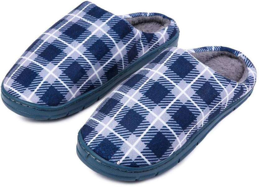 723f4a2b27878 Brauch Men Blue Check Winter Slippers - Buy Brauch Men Blue Check Winter  Slippers Online at Best Price - Shop Online for Footwears in India |  Flipkart.com