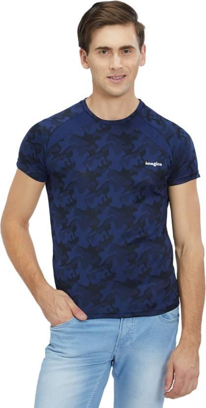 021cb79e Imagica Military Camouflage Men Round Neck Dark Blue T-Shirt - Buy Imagica  Military Camouflage Men Round Neck Dark Blue T-Shirt Online at Best Prices  in ...