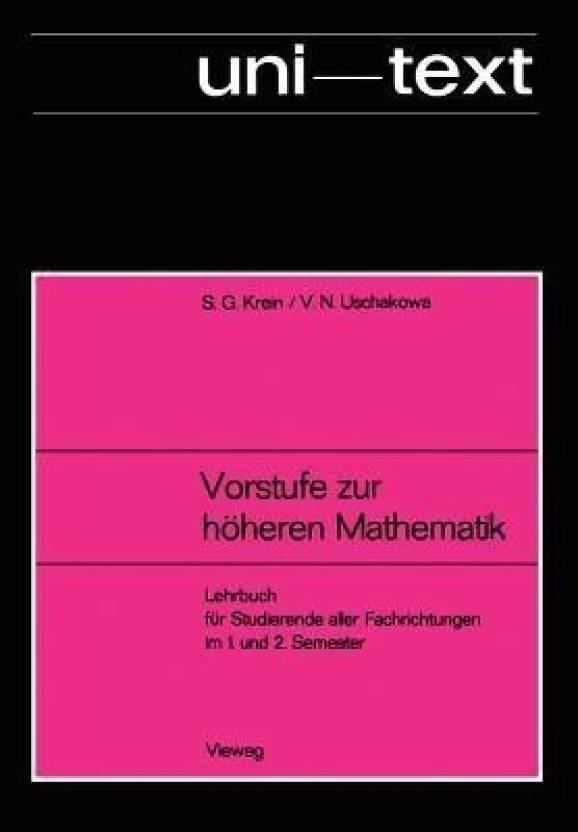 Vorstufe Zur H heren Mathematik: Buy Vorstufe Zur H heren Mathematik
