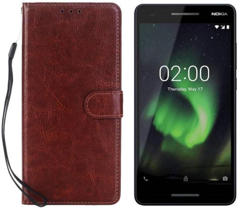 Unirock Flip Cover for Nokia 2 1 (Blue & Silver, 8 GB) (1 GB RAM