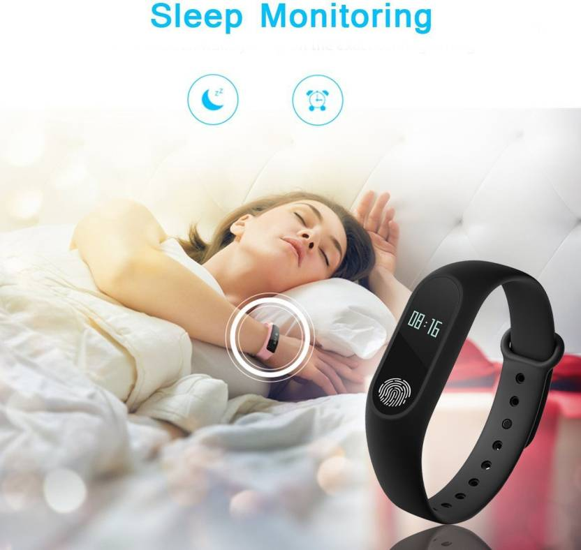 Leco M2 Heart Rate Smart Fitness Band (Black)