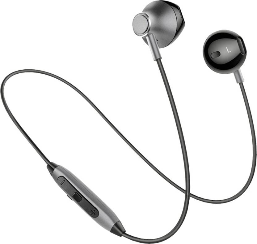 c9dbfda9210 PTron InTunes Magnetic Wireless Bluetooth Headset with Mic (Grey, In the Ear )