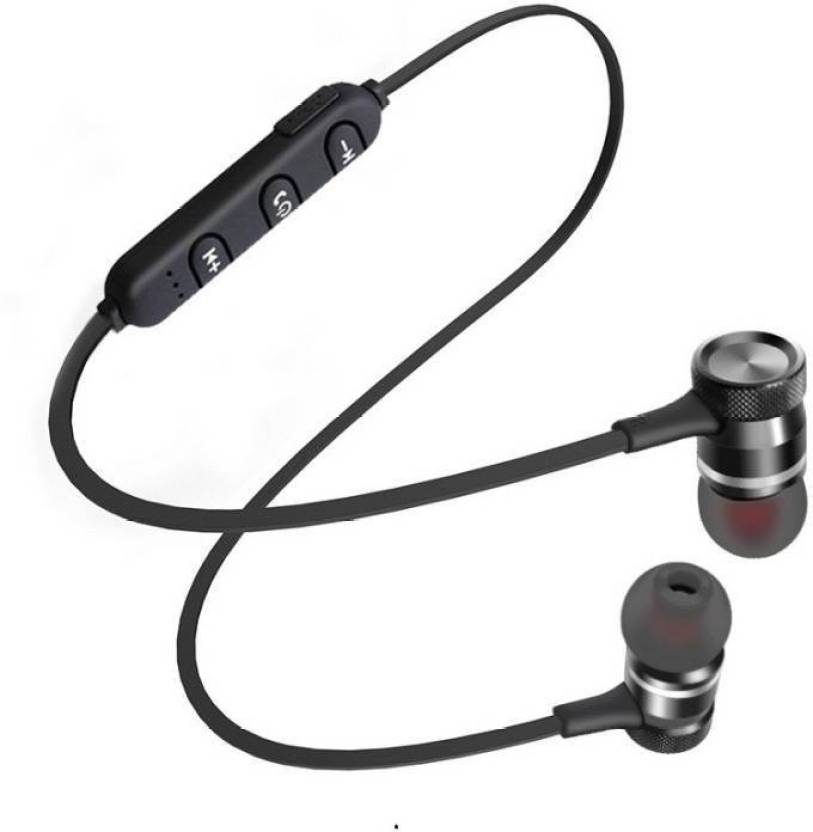 6bb19a82f47 CALLIE Magnetic Sport Wireless Bluetooth Headset with Mic (Black, In the  Ear)