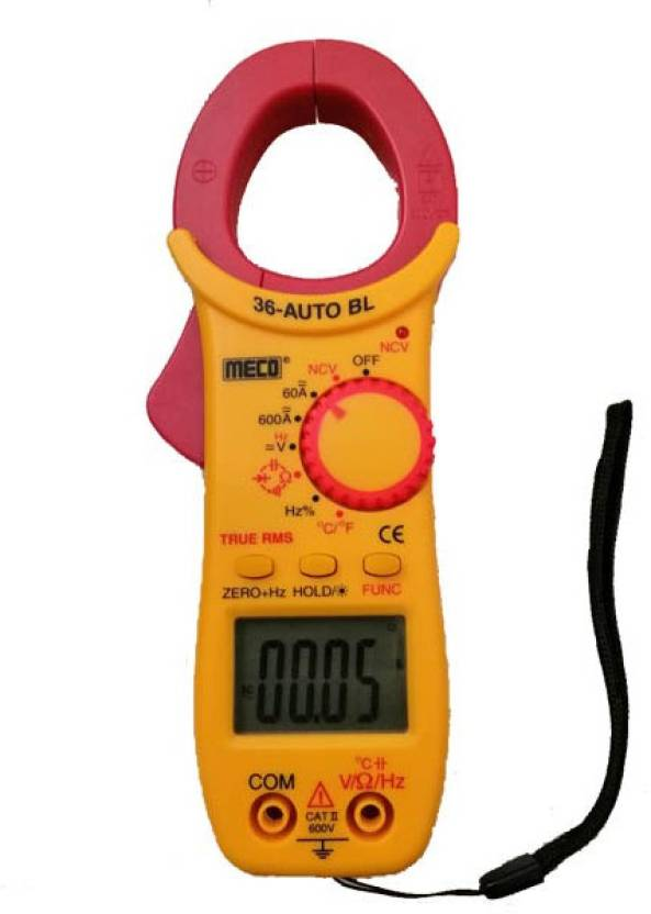 Meco 36-Auto BL TRMS Clamp Meter with Calibration