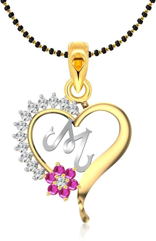 5087ecadac75a Vighnaharta Pink Flower Heart Initial