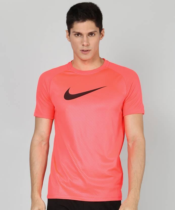 c8b85c06a Nike Self Design Men Round Neck Pink T-Shirt - Buy Nike Self Design Men  Round Neck Pink T-Shirt Online at Best Prices in India | Flipkart.com