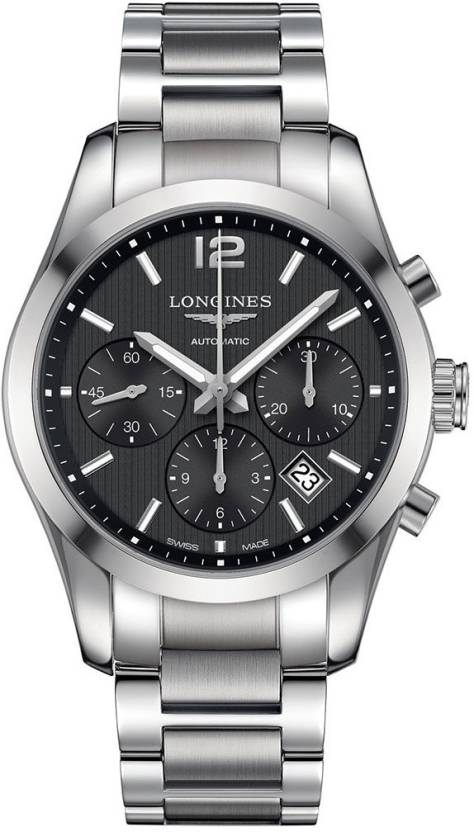 6f3e0524e Longines L2.786.4.56.6 Conquest Classic Watch - For Men - Buy Longines  L2.786.4.56.6 Conquest Classic Watch - For Men L2.786.4.56.6 Online at Best  Prices in ...