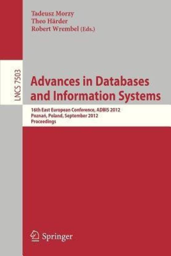 Advances On Databases And Information Systems