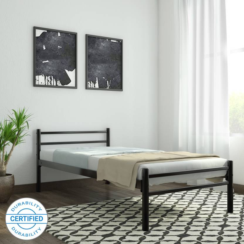 . FurnitureKraft Palermo Metal Single Bed