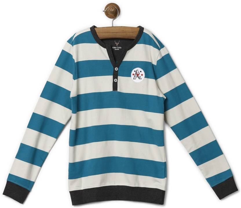 c81d31d8e Allen Solly Junior Full Sleeve Striped Boys Sweatshirt - Buy Allen ...