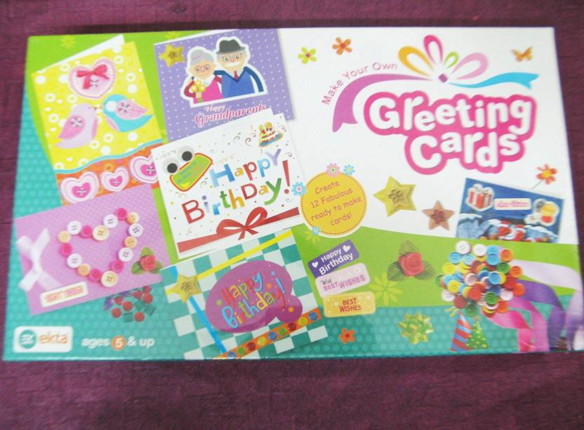Ekta Make Your Own Greeting Cards Craft Kit For Kids