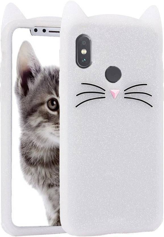 new style 162ae caebb KSF Back Cover for Girls 3D Cartoon Cute Cat Silicone Mobile Back ...