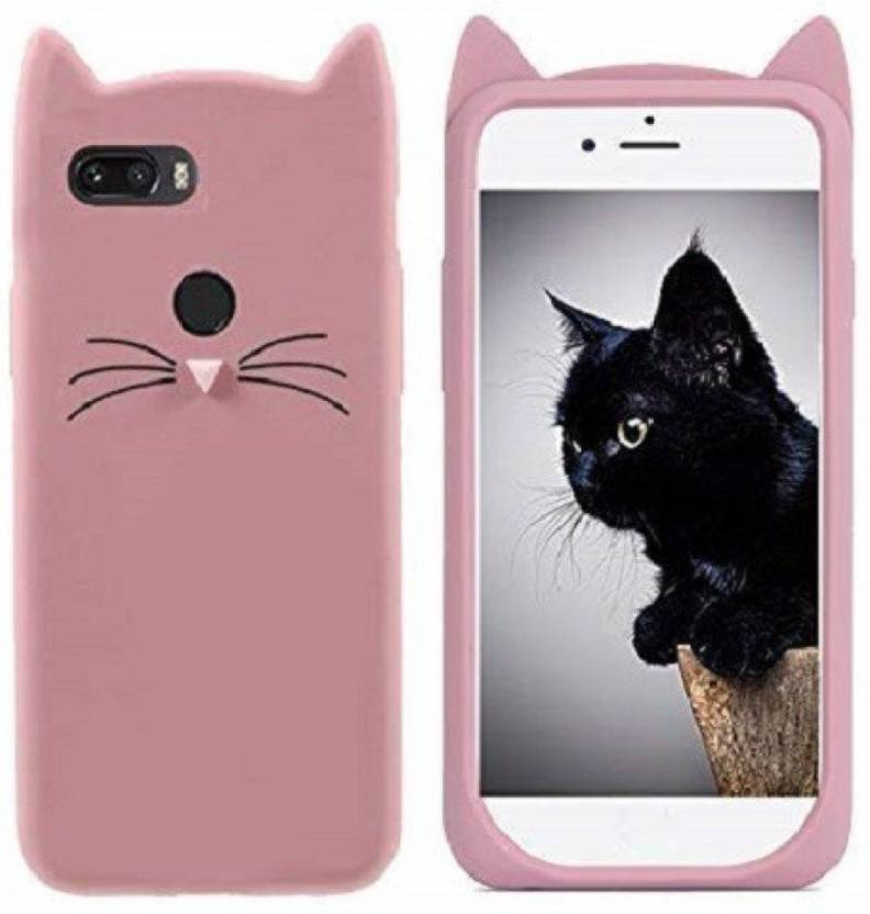 new style c99c3 aa6ef KSF Back Cover for Girls 3D Cartoon Cute Cat Silicone Mobile Back ...