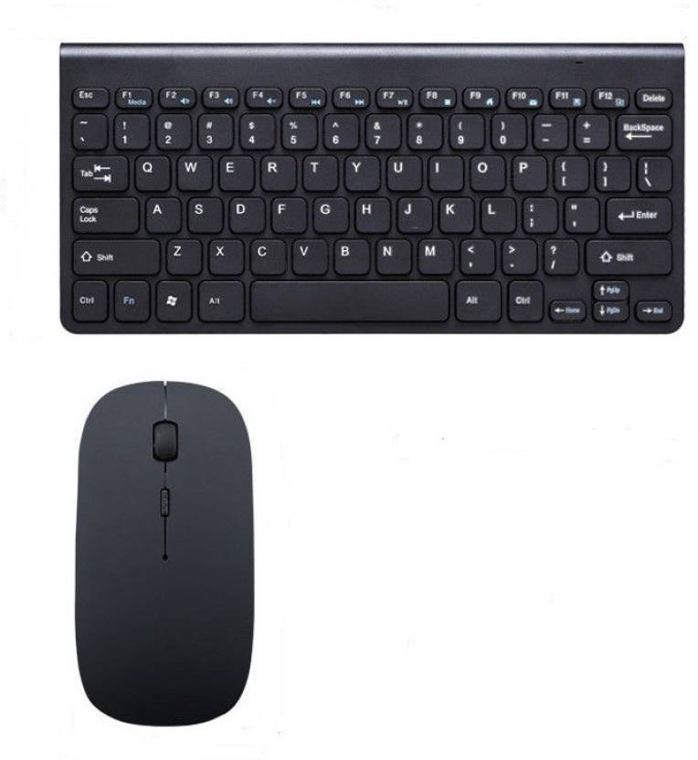 TechGear 2.4GHZ Wireless USB Slim Keyboard For PC Laptop WITH Mouse Combo Combo Set