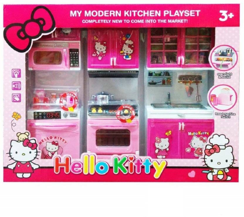 a4e00c81a FLICK IN Dream House Kitchen Playset Set | Battery Operated Kitchen Super  Set Toy | Light