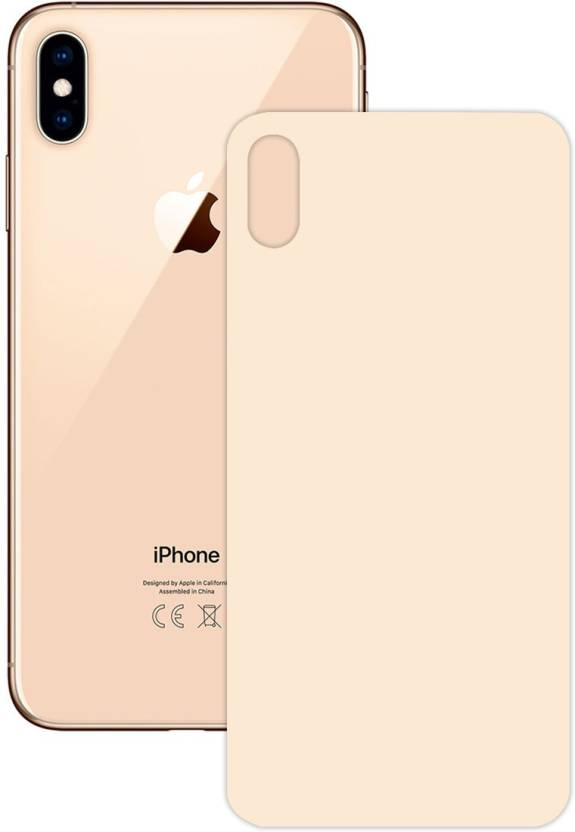 hot sale online 92f4e c831b BlackBug Tempered Glass Guard for Apple iPhone XS Max (Back) (Gold ...