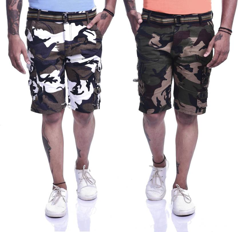 ad18194215 Timbre Printed Men Multicolor Cargo Shorts - Buy Timbre Printed Men  Multicolor Cargo Shorts Online at Best Prices in India | Flipkart.com