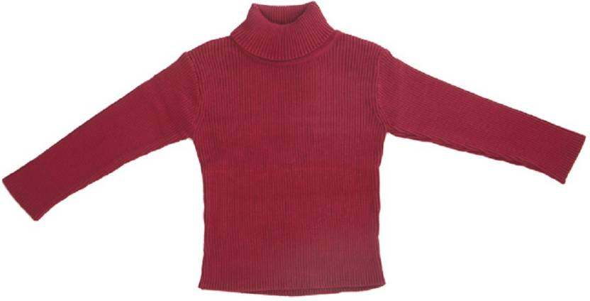 6030c4cdc MeeMee Woven Turtle Neck Casual Baby Boys Maroon Sweater - Buy ...